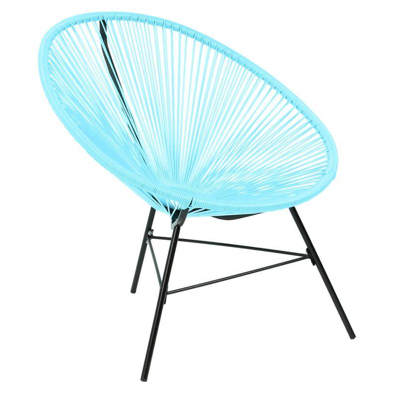 Garden Furniture Retro Rattan Lounge Conservatory Single Chairs