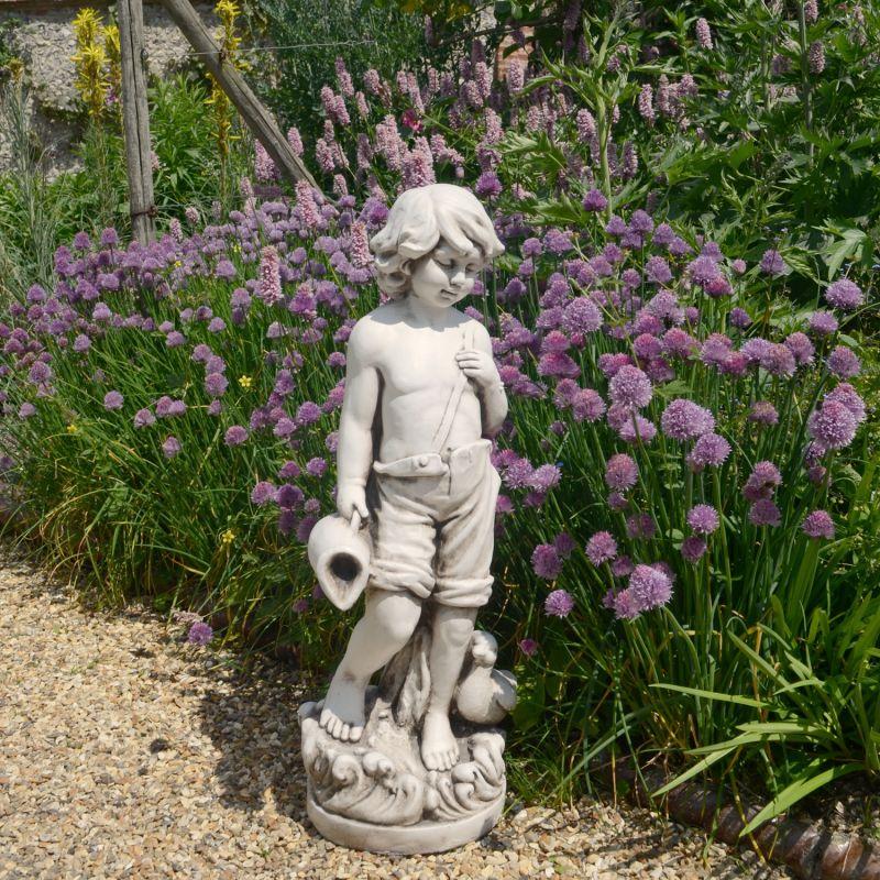 Michael Statue - Antique Stone Effect