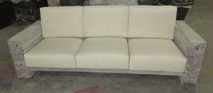Modern Block Design 3 Seater Sofa without Cushions