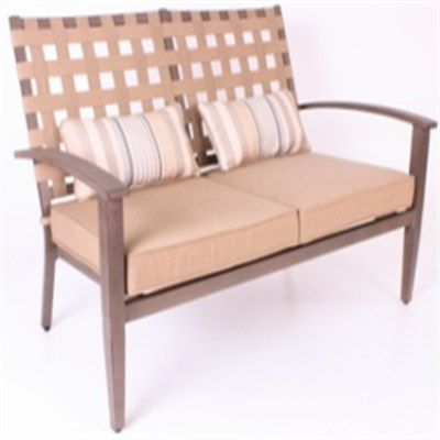 Encore Loveseat with Cushion and 2 Lumbar Pillows