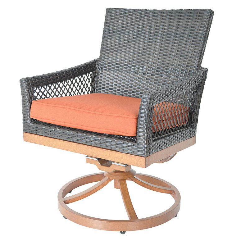 Swivel Rocking Chair with Cushion