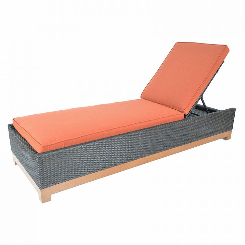 Chaise Lounge with Cushion and Lumbar Pillow