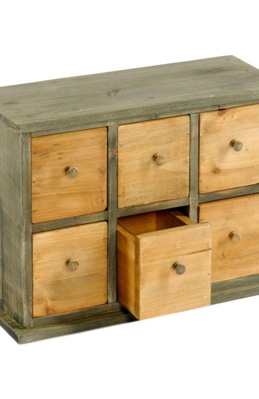 Six Drawer Storage Cabinet