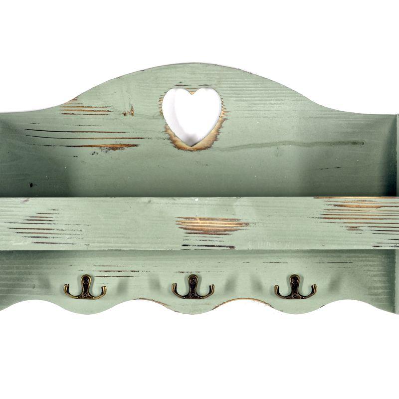 Green Heart Coat Rack With Shelf