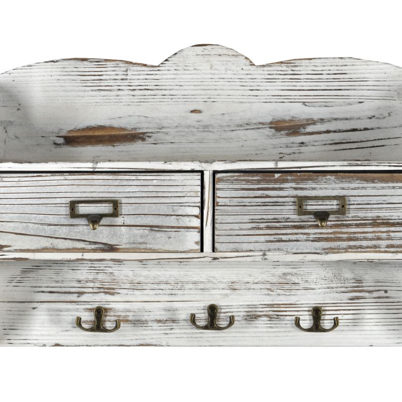 White 2 Drawer Coat Rack With Shelf