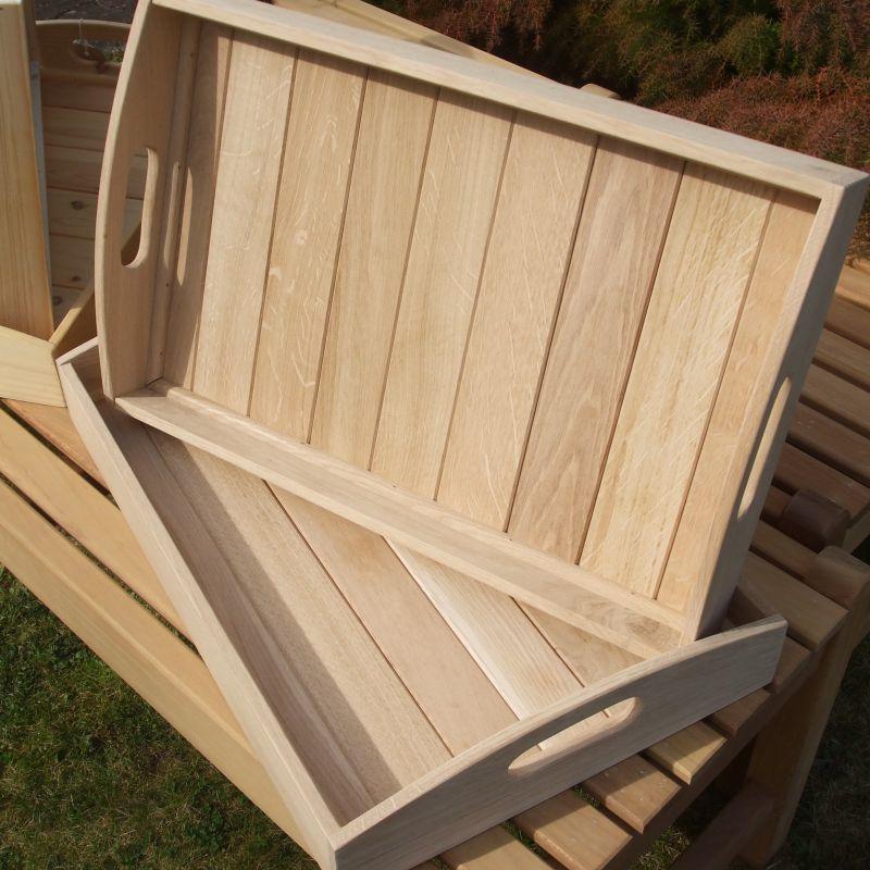 Hand Made Tea Tray in Oak