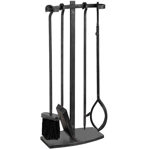 Black Brushed Steel Hook Top Companion Set