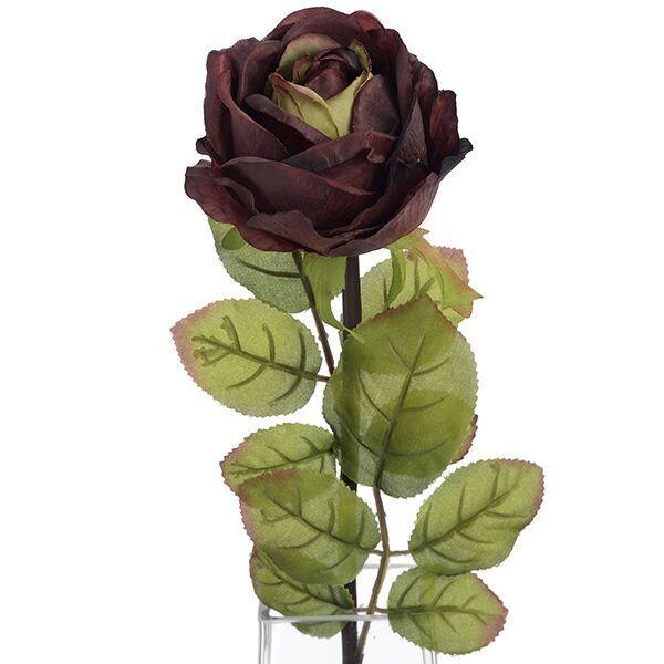 Autumn Burgundy Single Rose Stem