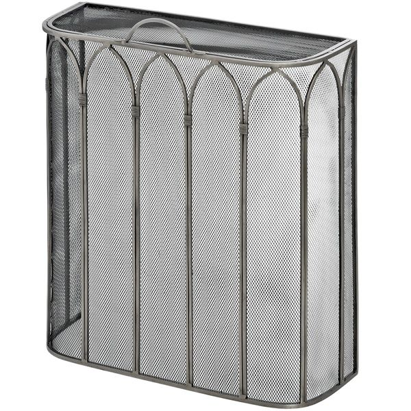 Gothic Antique Pewter Fire screen