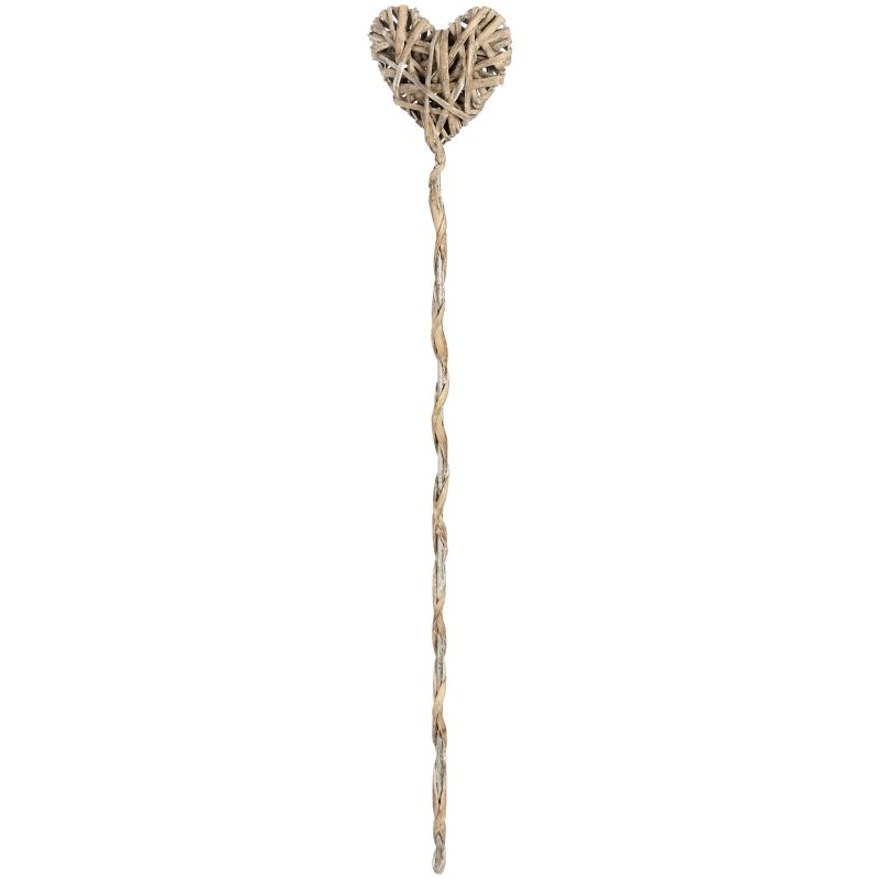 Woven Willow Heart Plant Support