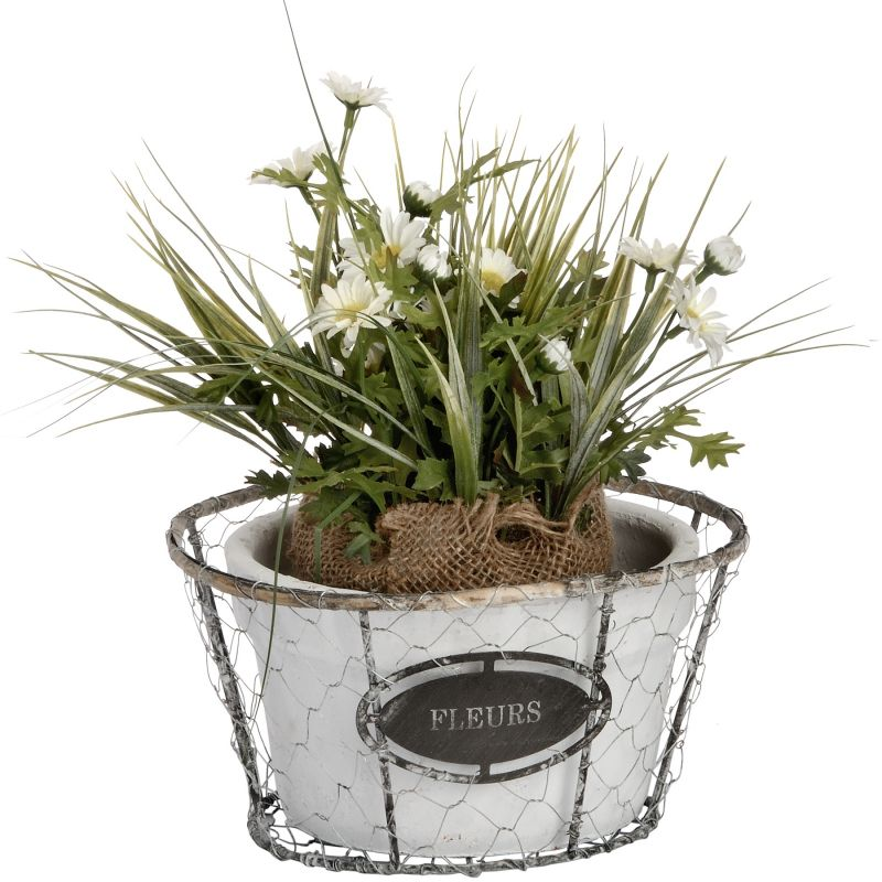 Fleurs Shallow Wired Planter