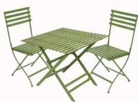 """Wimbledon"" Square Table and 2 Chairs (Green)"