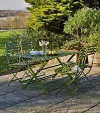 """Wimbledon"" Rectangular Table and 4 Chairs (Green)"