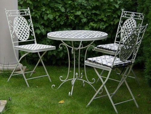 """Cafe Range"" Patio 1m Round Table and 2 Chairs"