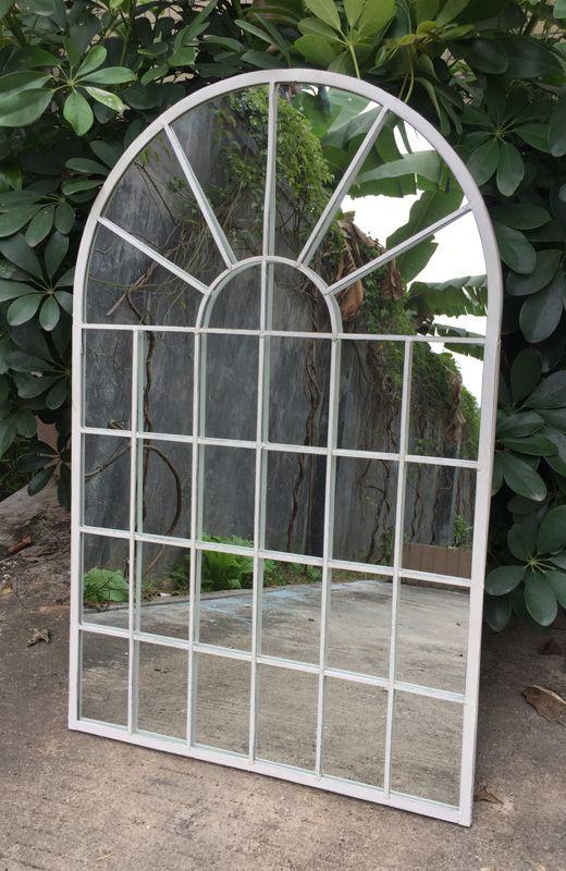 Cream Garden Archway Mirror