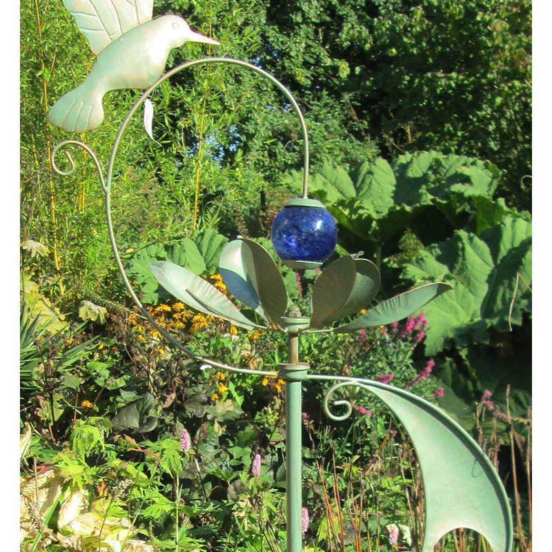 """""""Hidcote"""" Wind Sculpture (Verdigris)"""