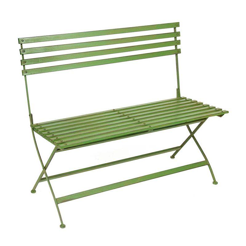 """""""Wimbledon"""" Bench (Green)"""