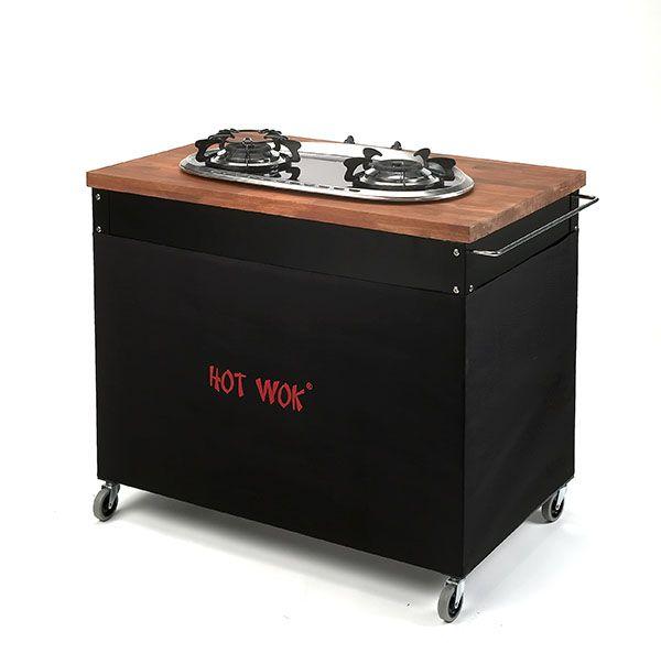 Hot Wok Top Line Table - Black