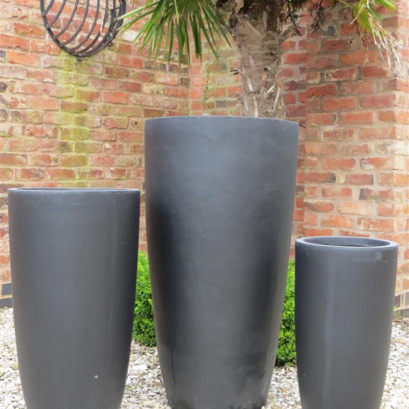 Set of 3 Long Bennington Pot - Black