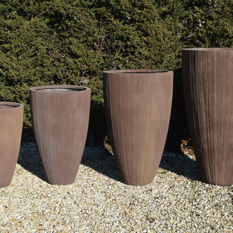Set of 4 Terracotta Somerby Pots