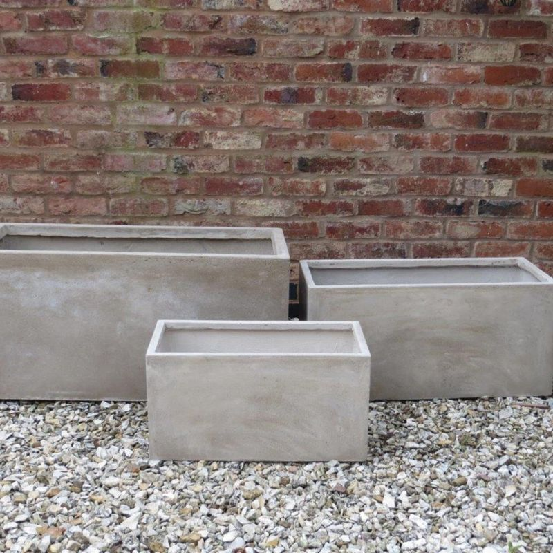 Set of 3 Rectangular Allington Pots