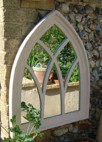 Gothic Mirror (Lime-wash Wood)