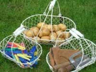 Wire Mesh Baskets (Cream, set of 3)
