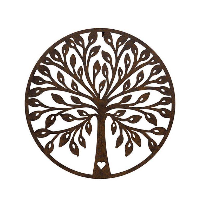 Round Tree Plaque Rust