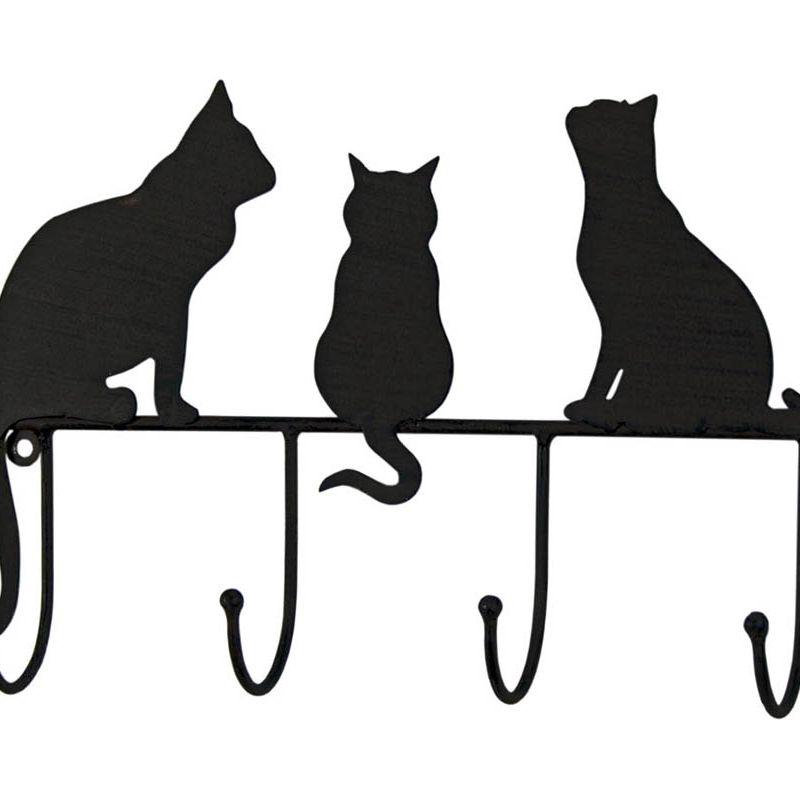 Black Metal Cats 4 Hooks