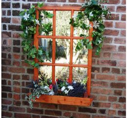 Where to hang garden mirrors