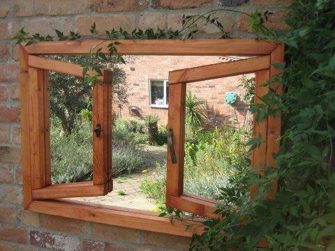 Double Window Ajar Mirror