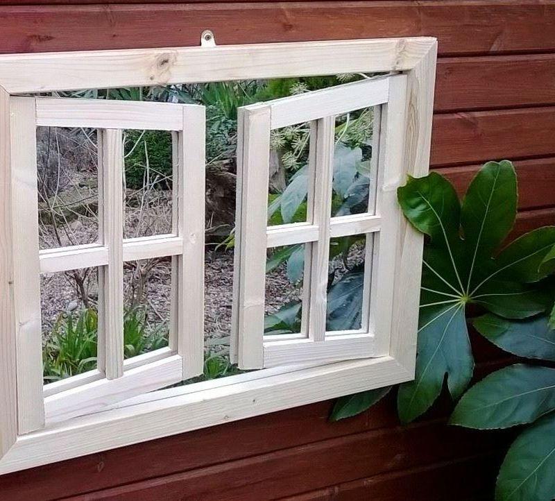 Double Window Ajar Mirror (68cm x 51cm x 5cm)