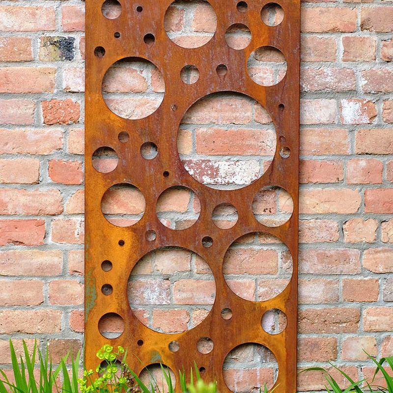 Decorative Metal Screen (Rusty Steel Bubbles)