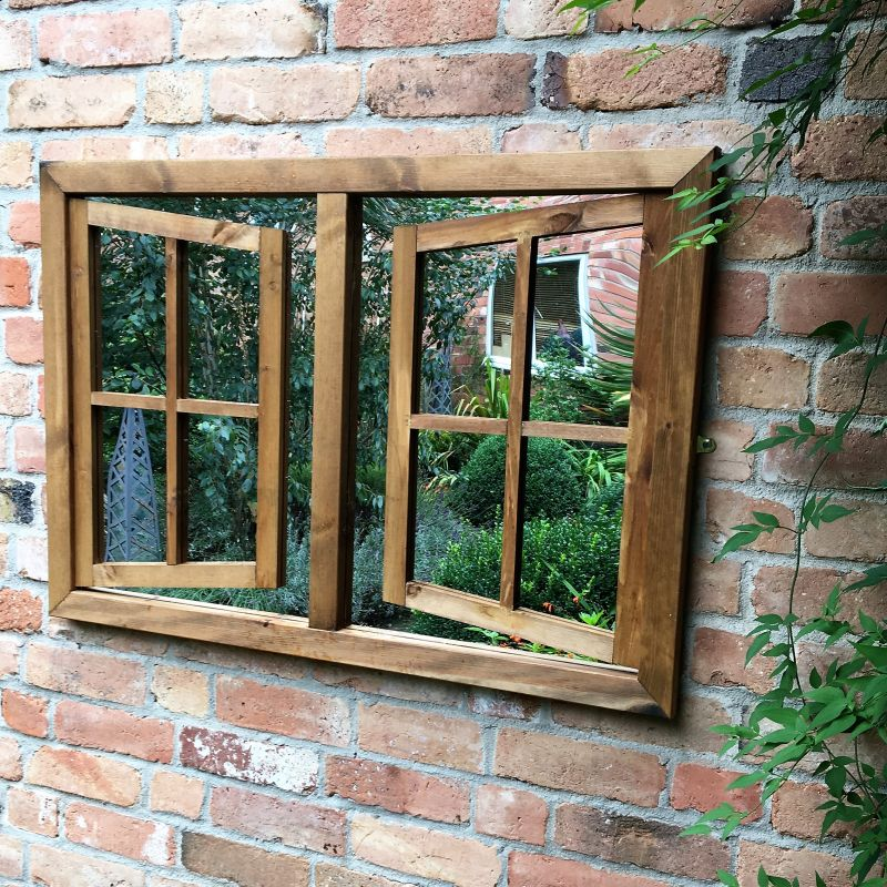 Open Georgian Window Mirror