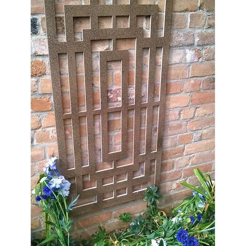 Decorative Metal Screen (Rusty Box Maze)