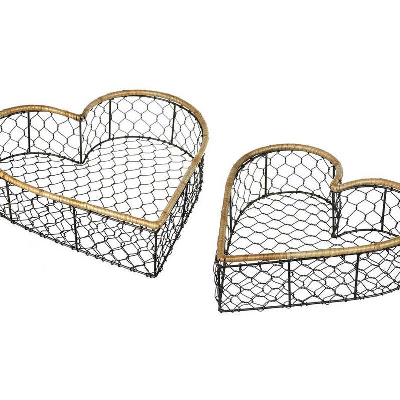 Wire Heart Baskets