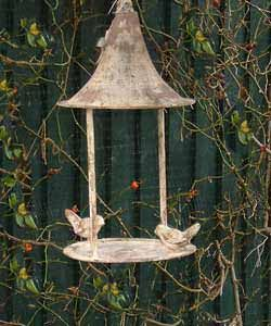 Hanging Bird Feeder (Grey Metal)