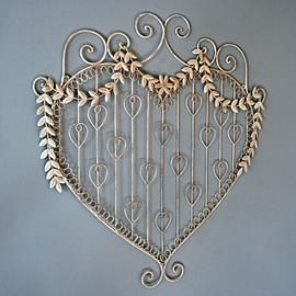Card Holder/Wall Decoration (Heart-shaped, Shabby-chic)