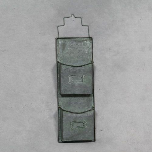 Galvanised Industrial Wall Storage Box/Organiser (Small)