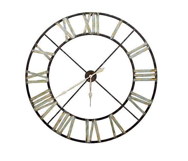Wall Clock With Silver Numerals (Large)
