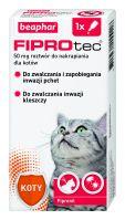 FIPROTEC 50MG  - 1 pipeta kropli przeciwko ektopasożytom dla kotów