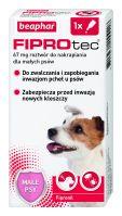 FIPROTEC  S 67MG  - 1 pipeta kropli przeciwko ektopasożytom dla małych psów