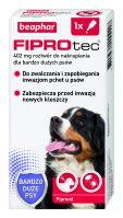FIPROTEC XL 402MG - 1 pipeta kropli przeciwko ektopasożytom dla bardzo dużych psów
