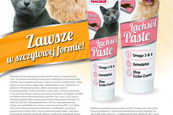 Nowe pasty Lachsol dla psów i kotów!