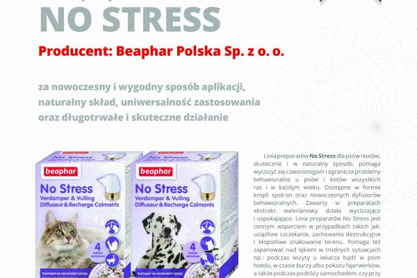 Certyfikat jakości dla produktów linii No Stress!