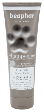 Premium Shampoo White Coat - 250ml - Dutch/French