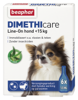 Dimethicare Line-on hond minder dan 15kg 6 pipetten