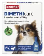 Dimethicare Line-on hond minder dan 15kg 6 pipetten