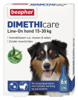 Dimethicare Line-on Hond 15-30kg 6 pipetten