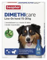 Dimethicare Line-on Hond 15-30kg 6 pipetten